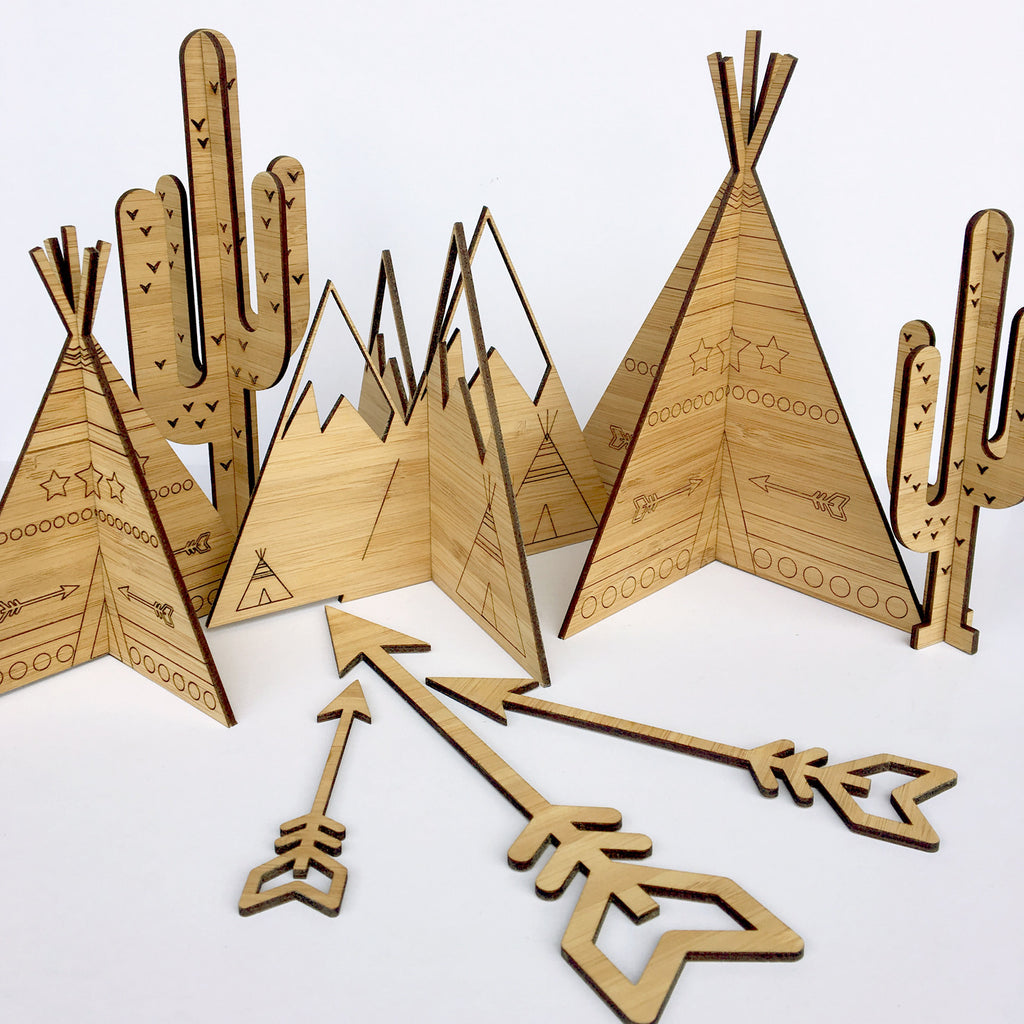 3D Teepees - set of 2
