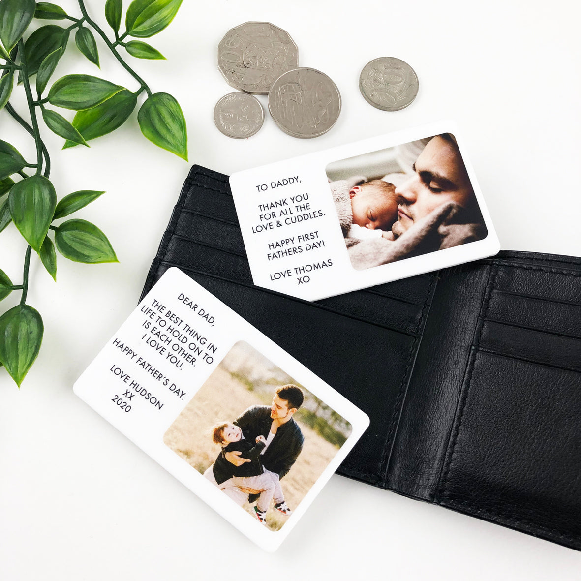 Personalised Wallet Photo Card Insert