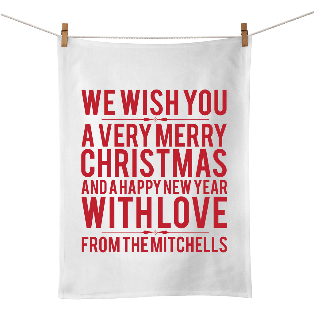 We Wish You Tea Towel