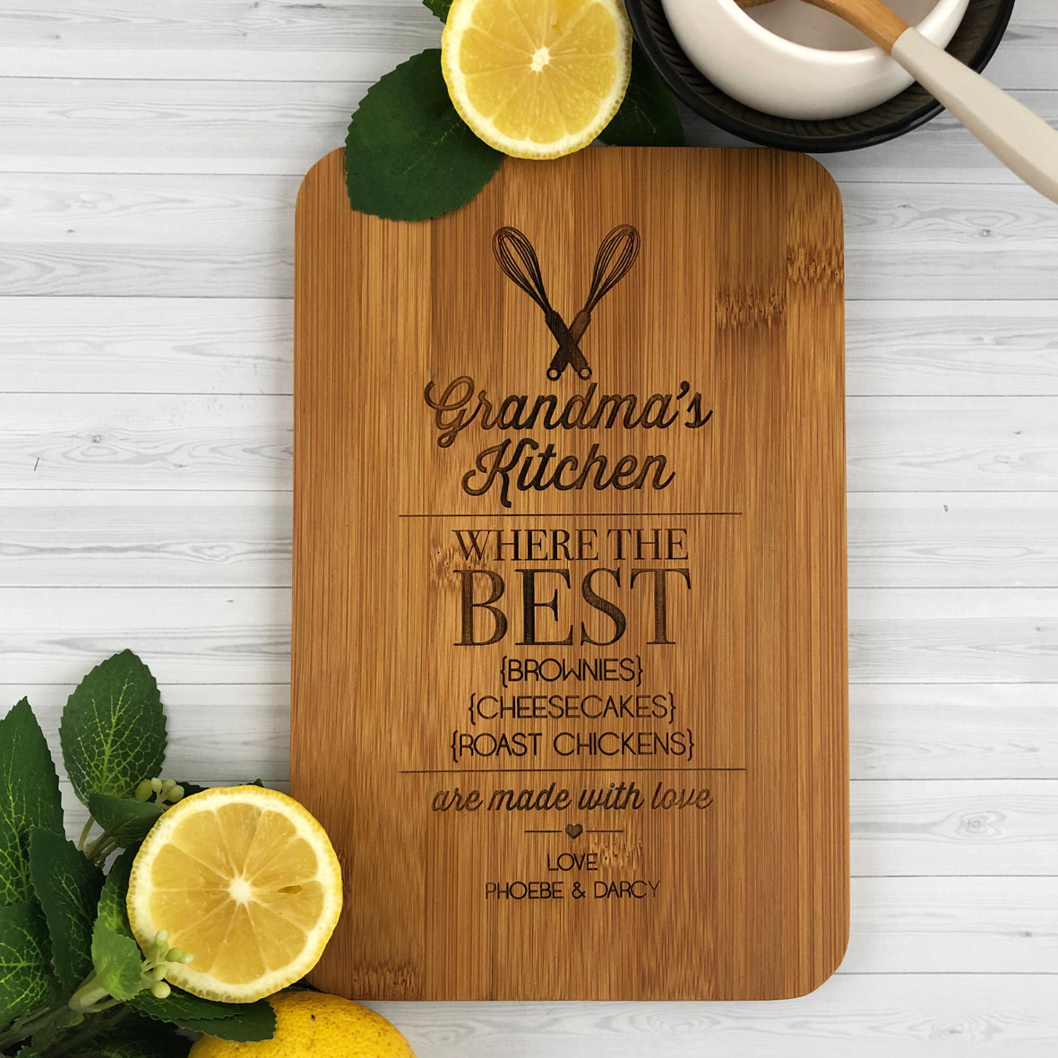 Where The Best Food Is Made Bamboo Serving Board