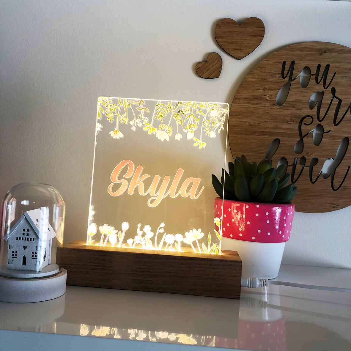 Wildflowers Personalised Night Light
