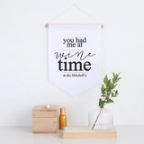 Wine Time Pennant Wall Banner