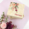 Personalised Floral Treasure Box