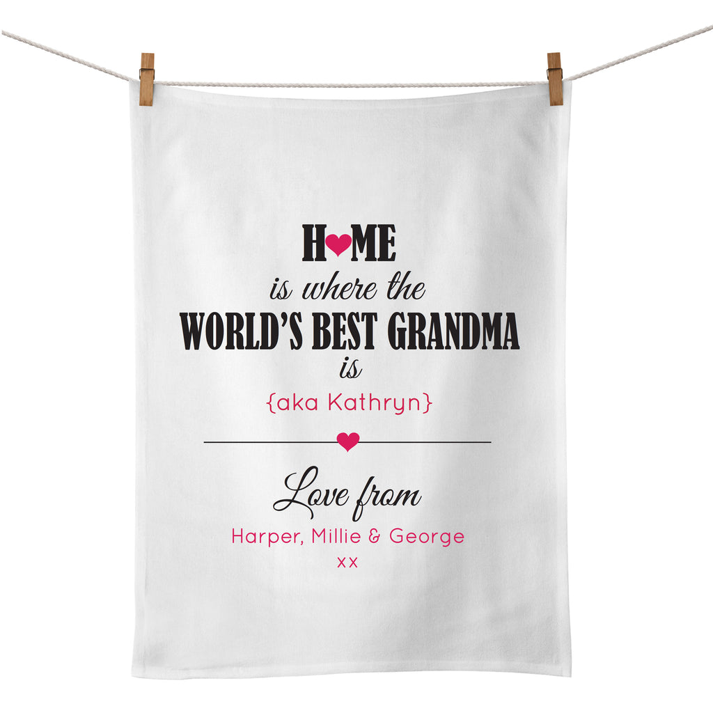 World's Best Mum Tea Towel