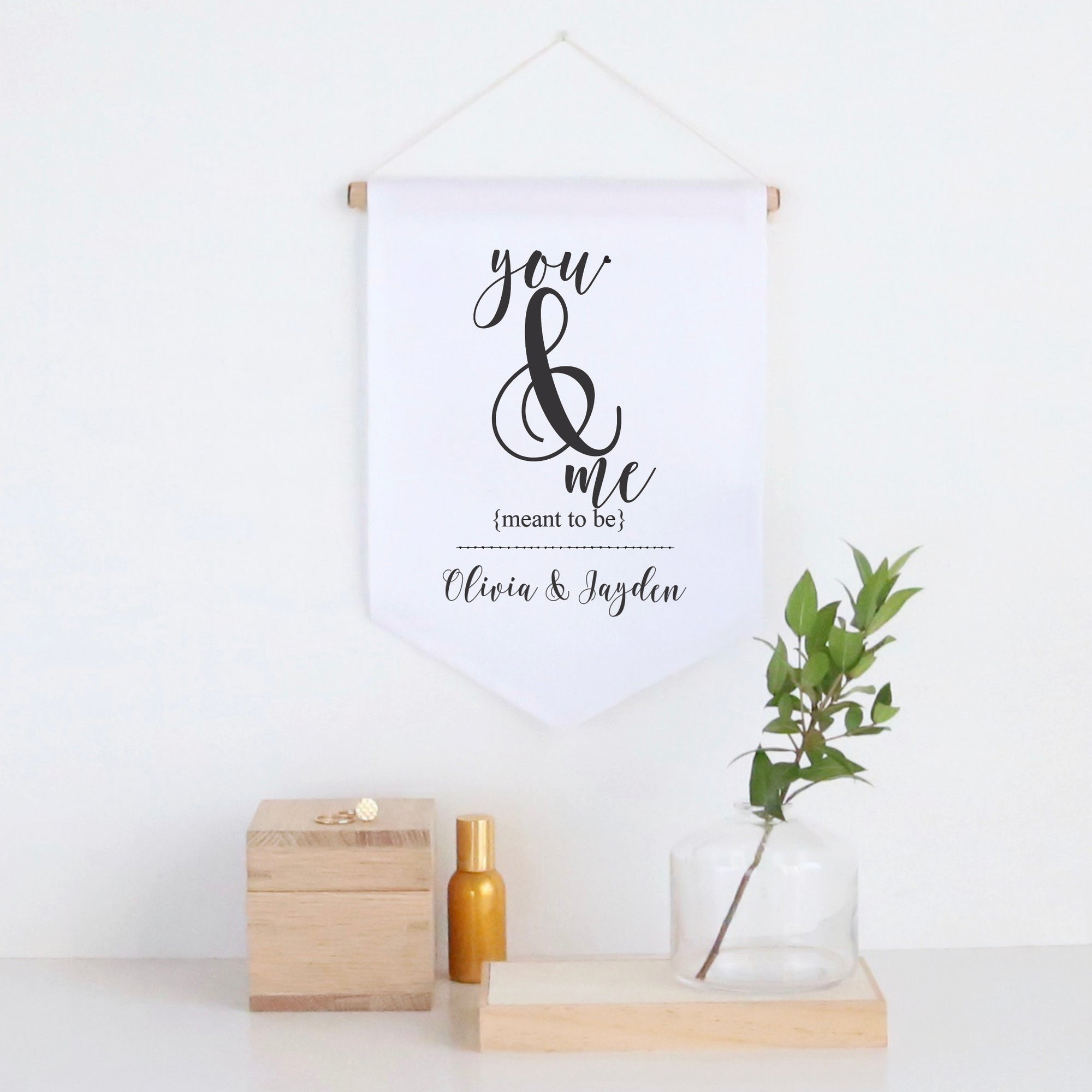 You And Me Pennant Wall Banner