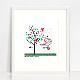 Love Makes Us Grow Personalised Print