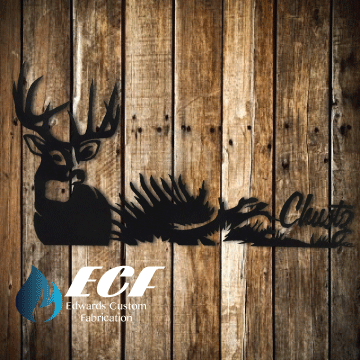 ECF Personalized Deer Name Yard Sign - Edwards Custom Fabrication