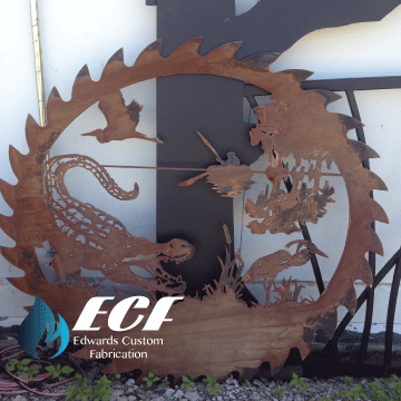 ECF Alligator & Egret Saw Blade - Edwards Custom Fabrication