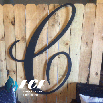 ECF Large Letter - Edwards Custom Fabrication