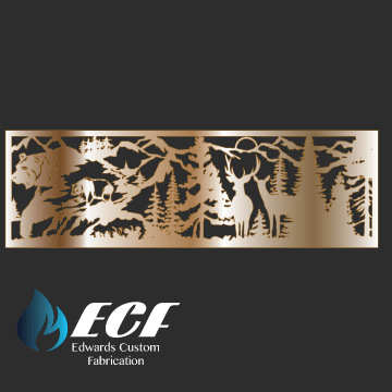 ECF Bear & Elk Rail Design - Edwards Custom Fabrication
