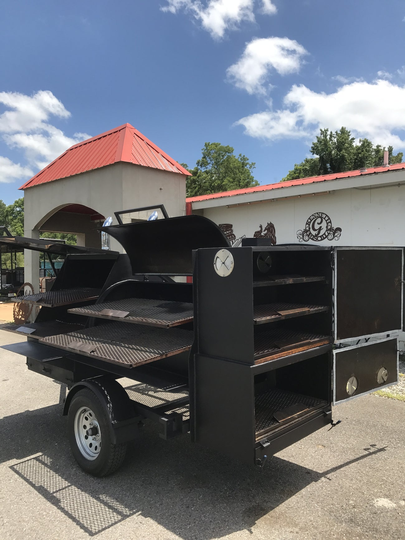 ECF Reverse Flow Smoker Trailer