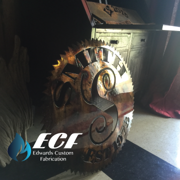 "ECF 28"" Vintage Custom Saw Blades - Edwards Custom Fabrication"