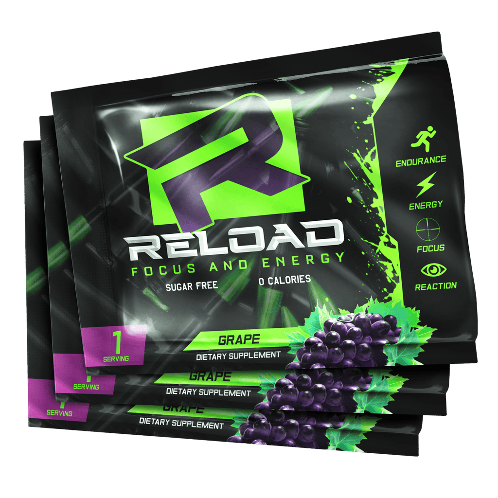 3 GRAPE SINGLE SERVING PACKS - Reload Focus & Energy