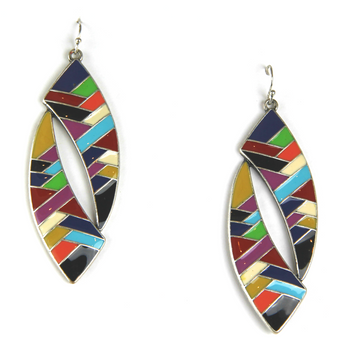 Aztec Geometric Drop Earrings