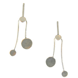 Balancing Act Silver Earrings