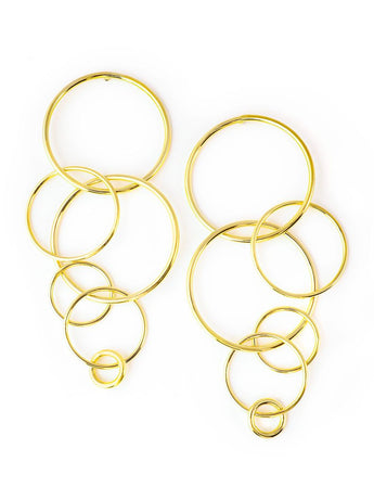 Orbit Statement Gold Earrings