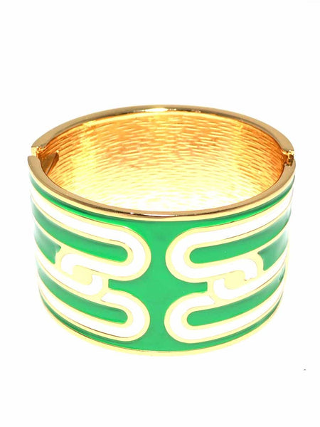 Poppy Green Bangle Bracelet