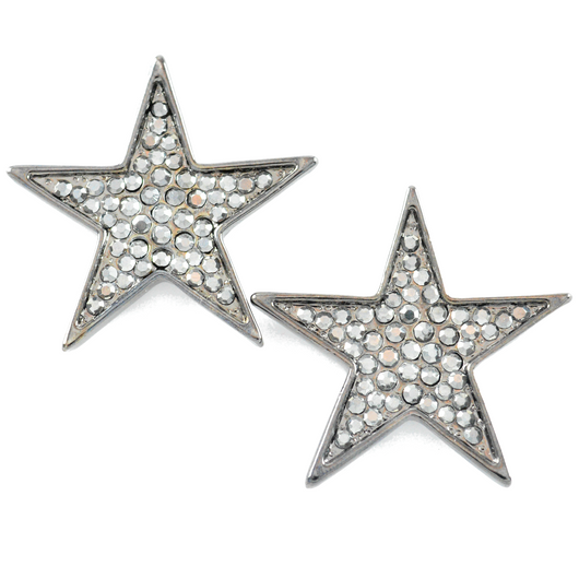 Star Power Gunmetal Earrings