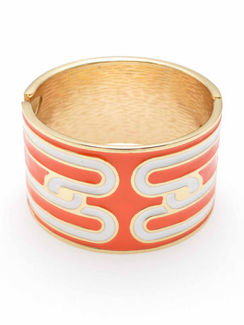 Poppy Orange Bangle Bracelet