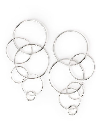 Orbit Statement Silver Earrings
