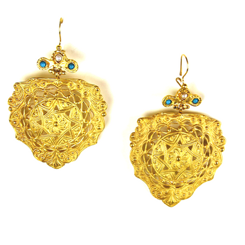 Spectacular Gypsy Golden Earrings