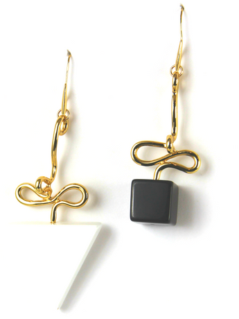 Ying and Yang Gold Earrings