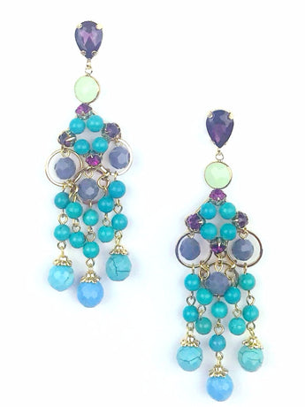 Peacock Statement Earrings