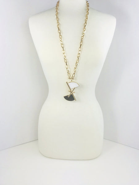 Ying and Yang Gold Necklace