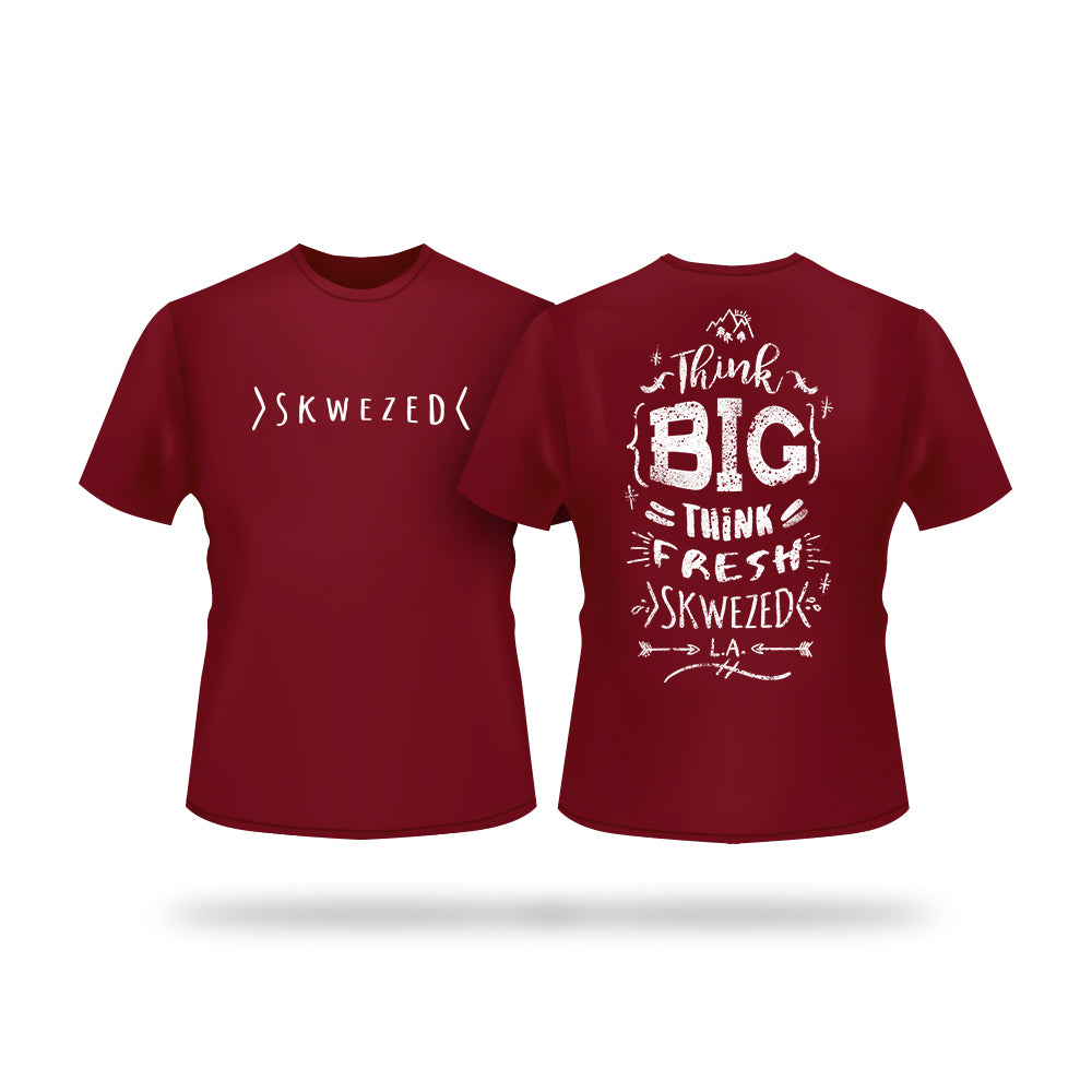 Skwezed Think T-Shirt (Maroon)