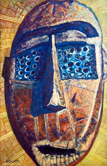 Circumcision Mask--Painting of an African Mask