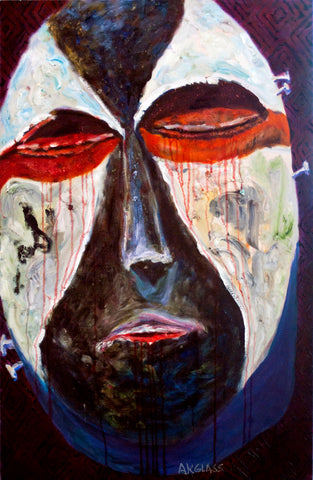 Death Mask--Painting of an African Mask
