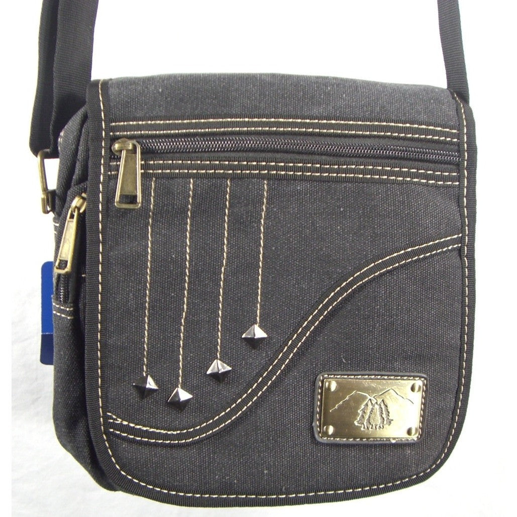 Camille Conceals Falling Star Black Canvas Concealed Carry Bag