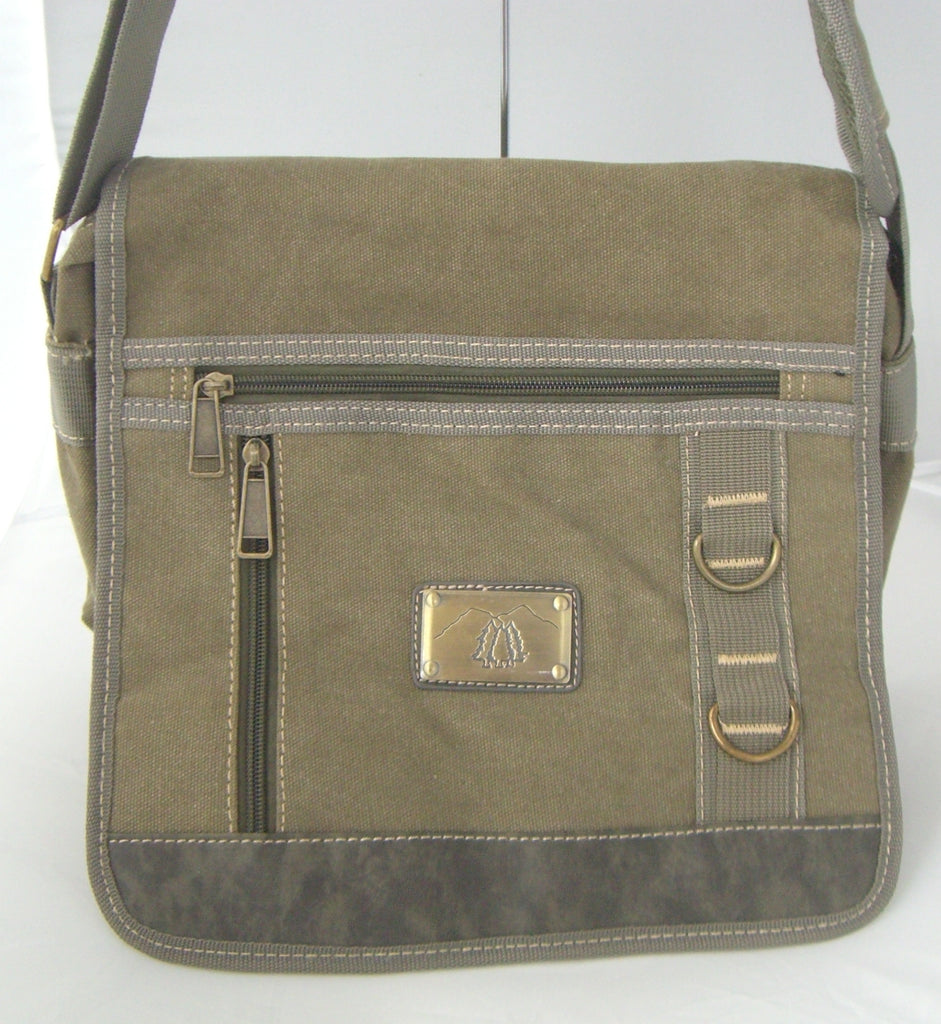 Camille Conceals Multi Pocket Canvas Concealed Carry Messenger Bag