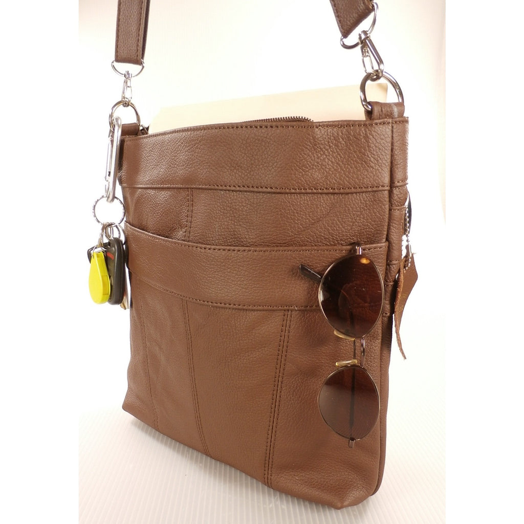 Camille Conceals Connie Leather Bag Profile