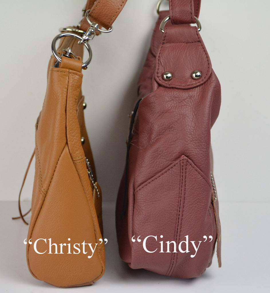 "Camille Conceals ""Cindy"" - Genuine Leather Conceal Carry Cross-Body Purse - Ambidextrous"