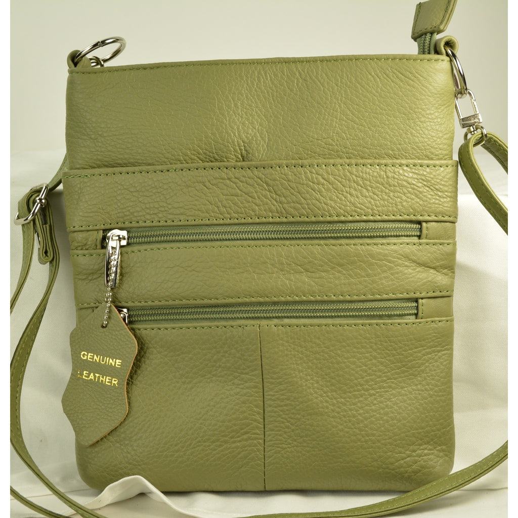 Camille Conceals Cosmo Olive Concealed Carry Bag