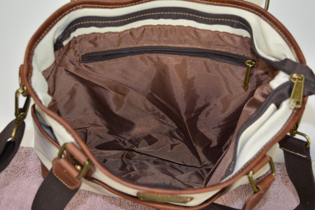 Camille Conceals Jenna - An Ambidextrous Canvas Shoulder/Cross Body Concealed Carry Briefcase/Tote /Mom Bag