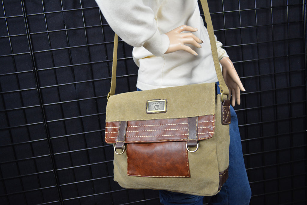 Camille Conceals Khaki Dispatch Bag - Large Capacity TopDraw™ Holster - Spacious Lined Interior