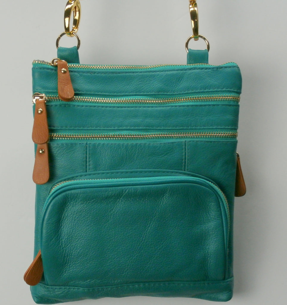 "Camille Conceals ""Mishka""- A Genuine Leather Top Draw™ Concealed Carry Mini Purse Gold Hardware"