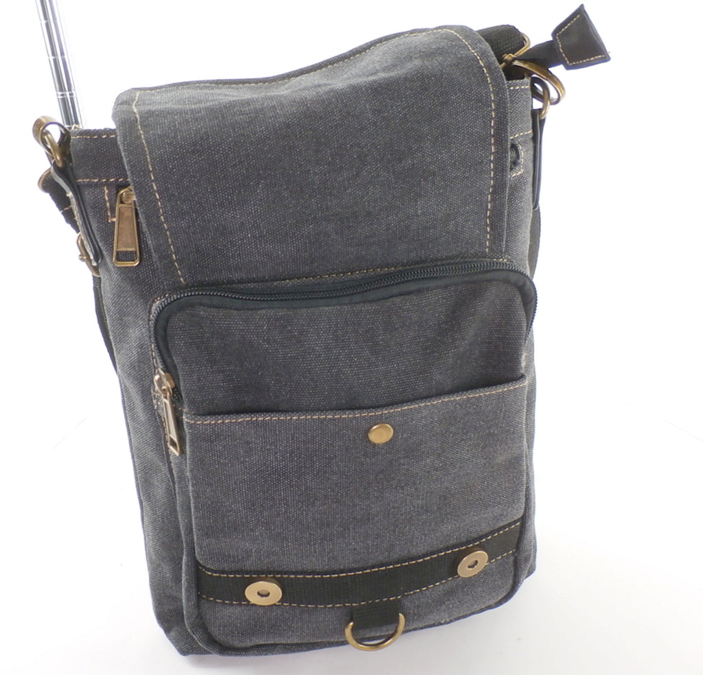 Windom Charcoal Canvas Concealed Carry Bag - Versatile - Large Holster!