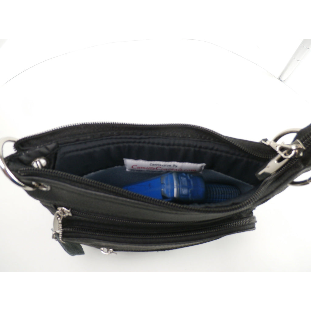 Candi - A Genuine Leather Concealed Mini Carry Bag -  Wear, Carry or Drop in your Purse or Tote