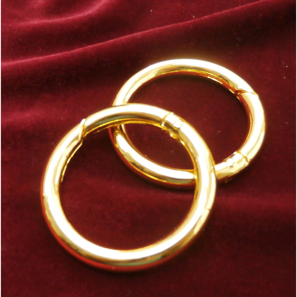 "Set of Two Spring Loaded Gate Rings  - 1 1/2"" Diameter Use to Attach your Minimalist Bag to a Tote or Purse Handle"