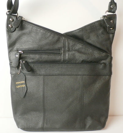 Valerie -  Uniquely Styled  Slouchy Leather Conceal Carry Cross Body Purse