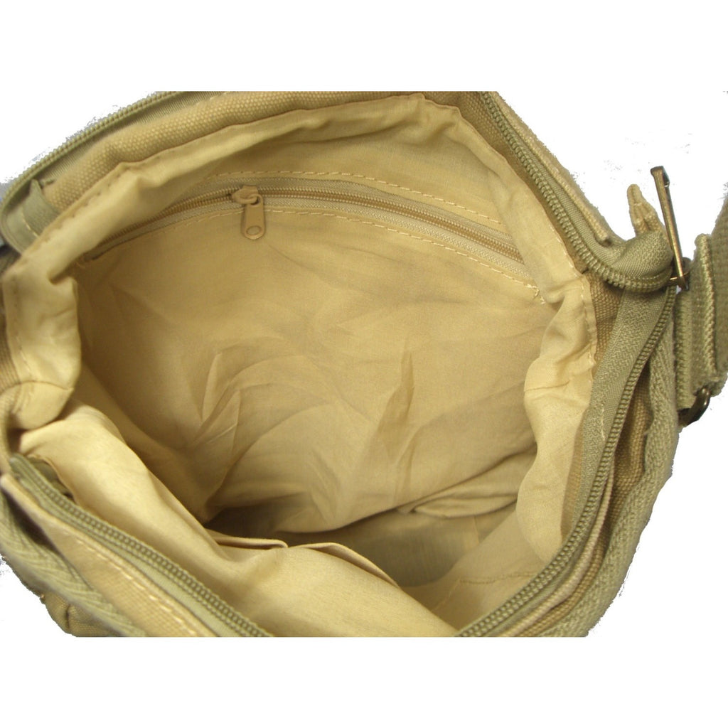 Camille Conceals Sand Washed Canvas Concealed Carry Bag Interior