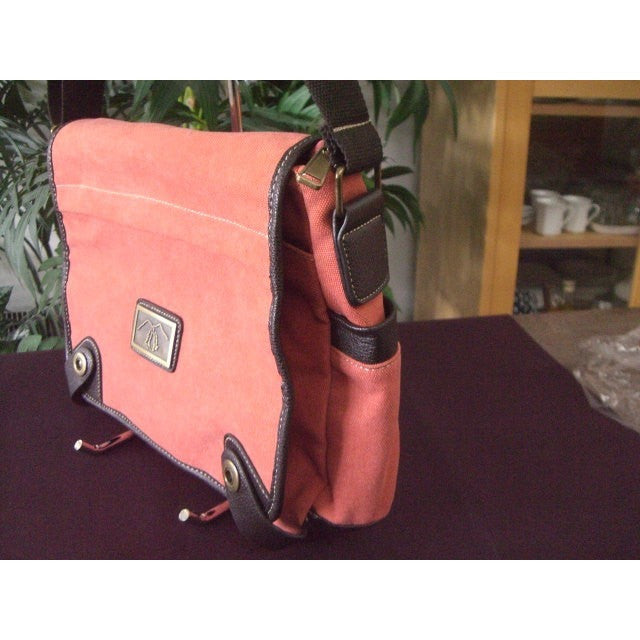Camille Conceals Coral Messenger Canvas Concealed Carry Bag Profile