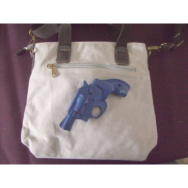 "Camille Conceals Canvas Concealed Carry ""City Bag"" Holster Placement"
