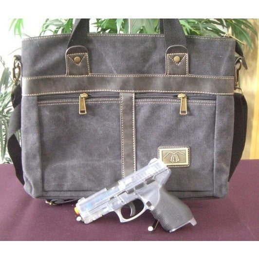 Camille Conceals Canvas Concealed Carry Briefcase
