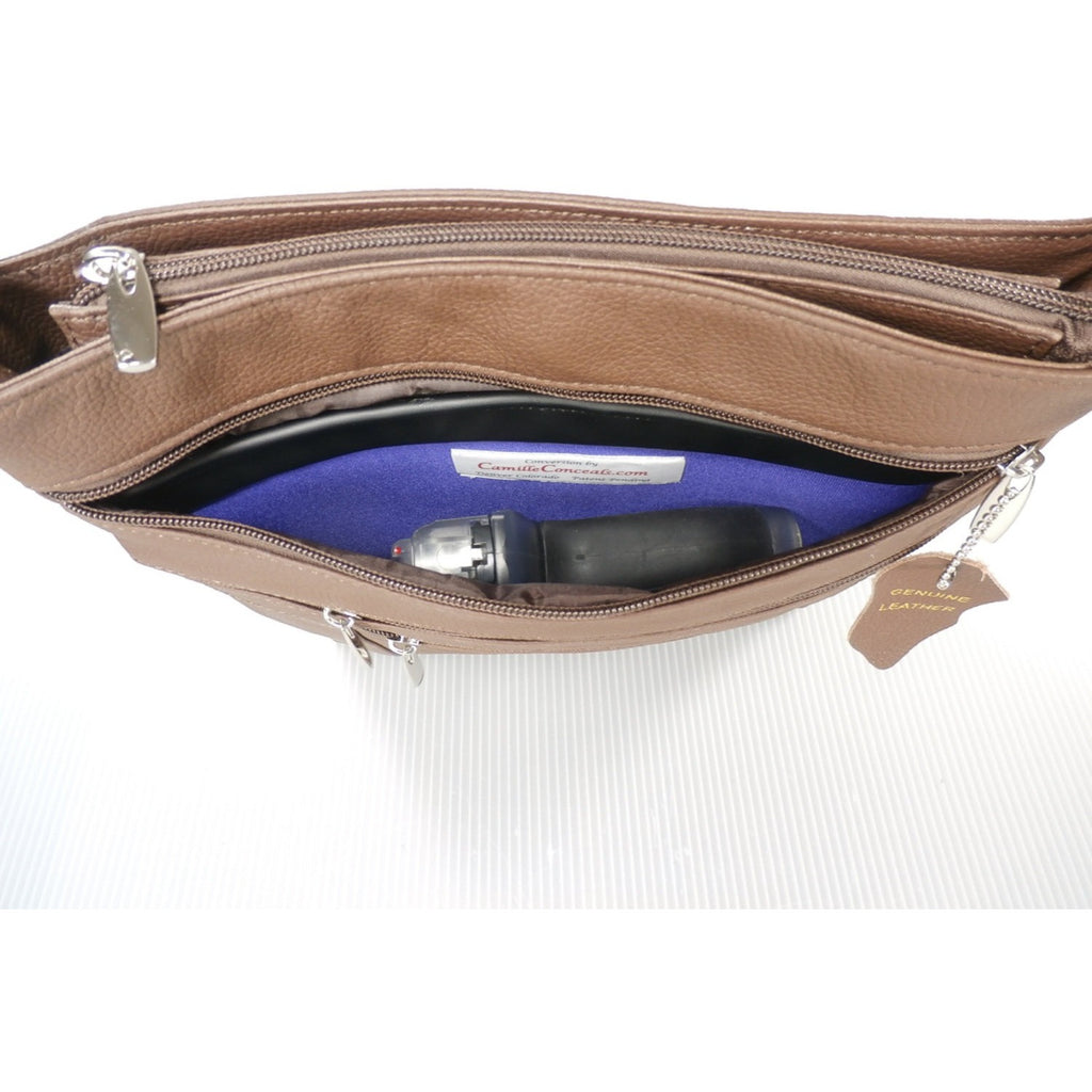 Camille Conceals Connie Leather Bag Holster View
