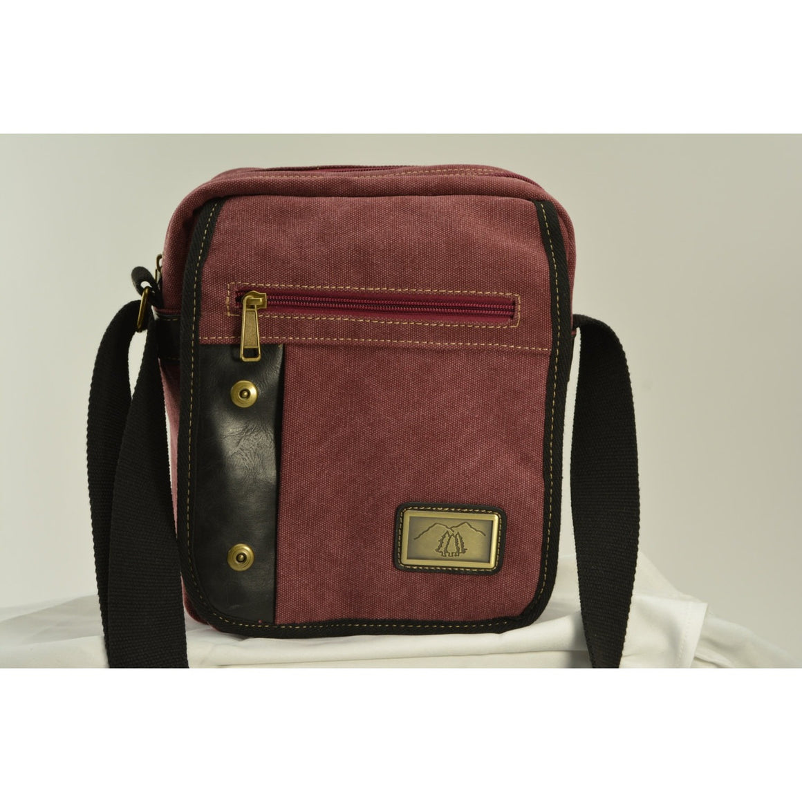 Camille Conceals Burgundy Canvas Concealed Carry Bag - Large Holster - Padded Tablet Section