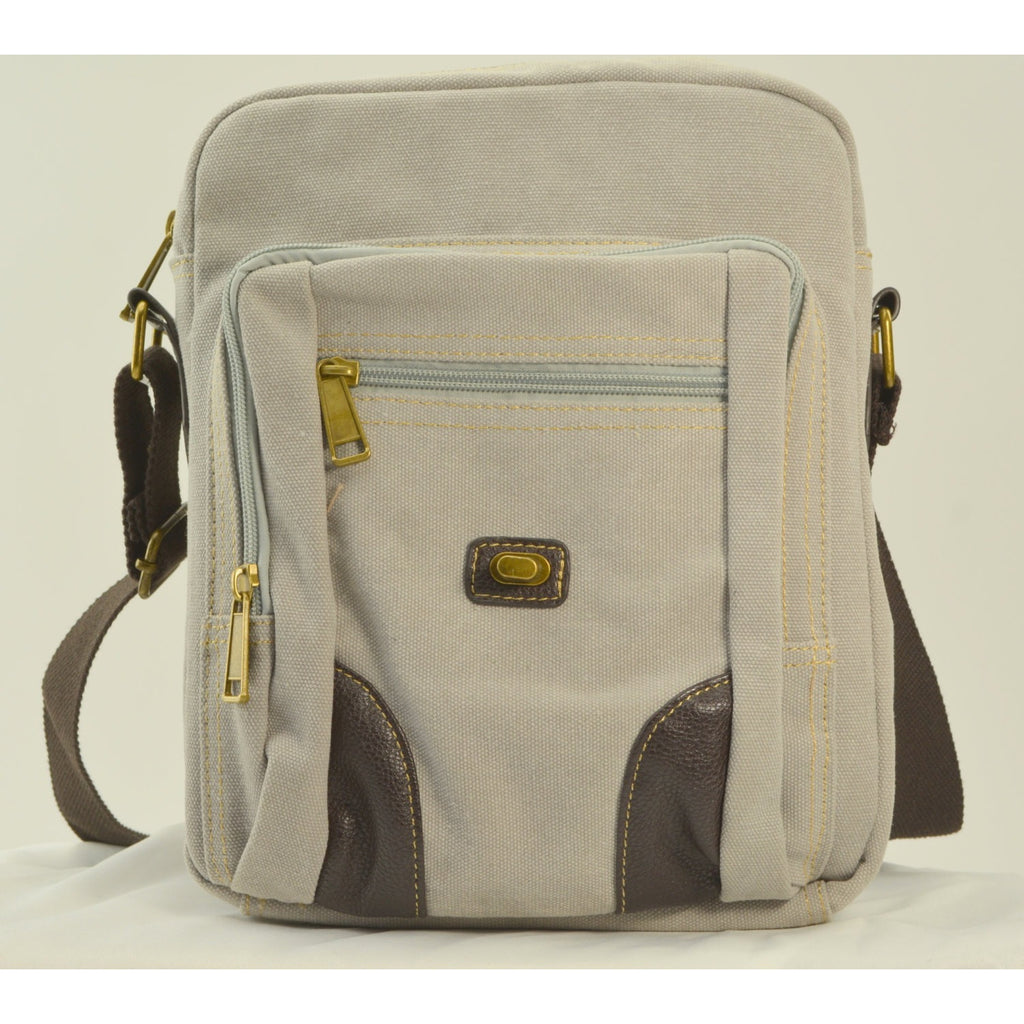 Camille Conceals Pearl Grey Canvas Concealed Carry Under the Flap